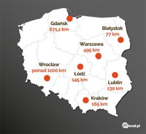 Mapa rowerowa Polski