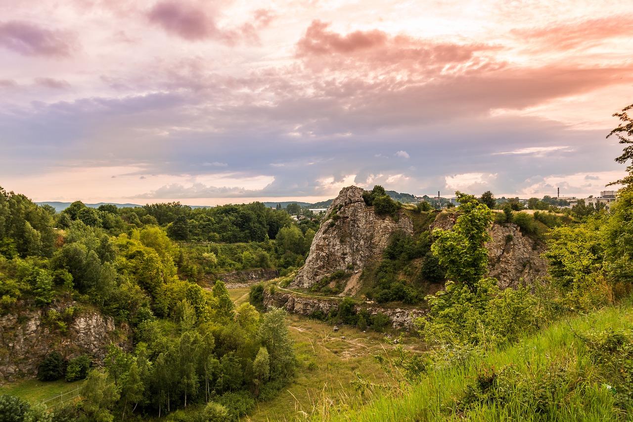 Przepiękny rezerwat Kadzielnia w Kielcach